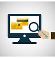 business financial credit card online icon vector image vector image