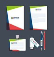 business printed advertising items vector image vector image