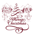calligraphic christmas letterin vector image vector image