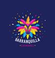 carnaval de barranquilla colombian carnival party vector image vector image