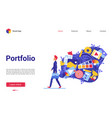 cartoon flat modern trendy website interface for vector image
