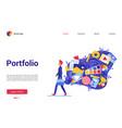 cartoon flat modern trendy website interface vector image vector image