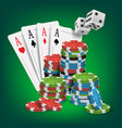 casino poker design poker cards chips vector image vector image