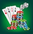 casino poker design poker cards chips vector image
