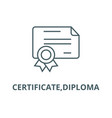 certificatediploma line icon certificate vector image