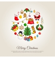 Christmas Banner with Winter Holidays Attributes vector image
