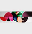 circle abstract geometric background color vector image vector image
