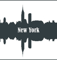 Contour of the city of New York vector image vector image