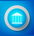 courthouse building icon building bank or museum vector image vector image