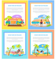 distant work and freelance promotional banners set vector image vector image