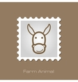 Donkey stamp Animal head vector image vector image