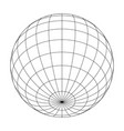 earth planet globe grid of meridians and parallels vector image vector image