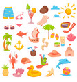 elements for seaside vacation vector image
