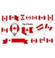 flag canada big set icons and symbols vector image vector image