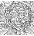 floral doodle trippy psychedelic mandala artwork vector image vector image