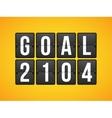 goal football soccer concept letter vector image