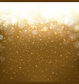 golden background with bokeh vector image