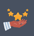 hand holding rating five vector image
