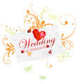 Hand Made Wedding Card vector image