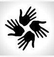 hand print icon logo element vector image