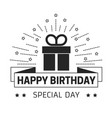 happy birthday and special day greeting card with vector image vector image