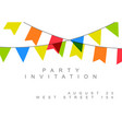 happy birthday party minimalist card ivitation vector image vector image