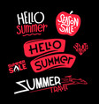 hello summer and summer sale doodle style vector image vector image