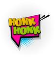Honk comic book text pop art