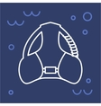 Icon bcd diving equipment vector image vector image