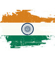 indian scratched flag vector image vector image