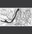 kolkata india city map in retro style outline map vector image