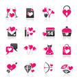 love and valentine holidays icons vector image vector image