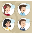 Men and women user icon vector image vector image