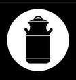 milk can icon design vector image