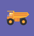 mining truck icon set of great flat icons for vector image