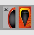 modern business card template design vector image