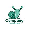 modern character funny snail logo vector image