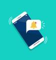 notification on smartphone flat icon
