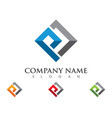 p letter property logo template vector image vector image