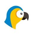 parrot tropical bird icon vector image vector image