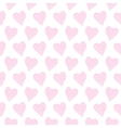 Pattern with pink hearts vector image vector image