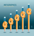 Pencil Knot infographic vector image