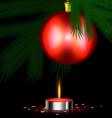 red festive candle vector image