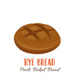 rye bread icon vector image