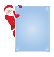 Santa Claus hanging on card vector image