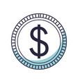 saving money coin cartoon vector image