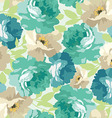 Seamless floral pattern with blue roses vector image vector image