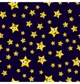 Seamless pattern ridiculous stars vector image vector image