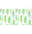 seamless pattern watercolor arugula leaves vector image vector image