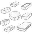 set of concrete construction block vector image